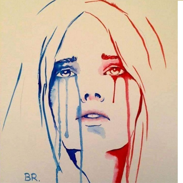 Marianne en pleurs 1