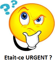 Urgent smiley